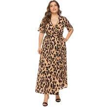 94f52c6b36 Romacci Plus Size kobiet sukienka 4XL 5XL 6XL Casual długa sukienka boho V  szyi krótkim rękawem