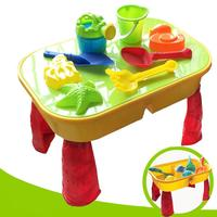 Kids Sand Pit Set Beach Sandpit Table Water Play Spade Tool Toy Play Home Beach Table Toys Water Puzzle Toys Summer Fun
