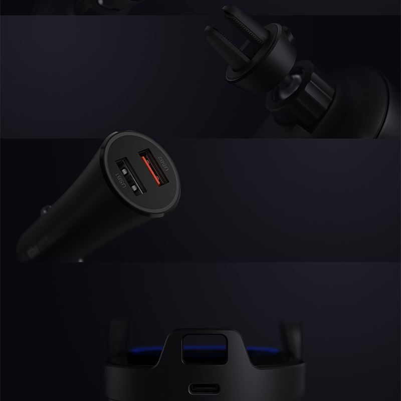 Image 5 - Original Xiaomi Wireless Car Charger 20W Max Electric Auto Pinch 2.5D Glass Ring Lit Charging for Xiaomi Mi Smartphone-in Mobile Phone Chargers from Cellphones & Telecommunications