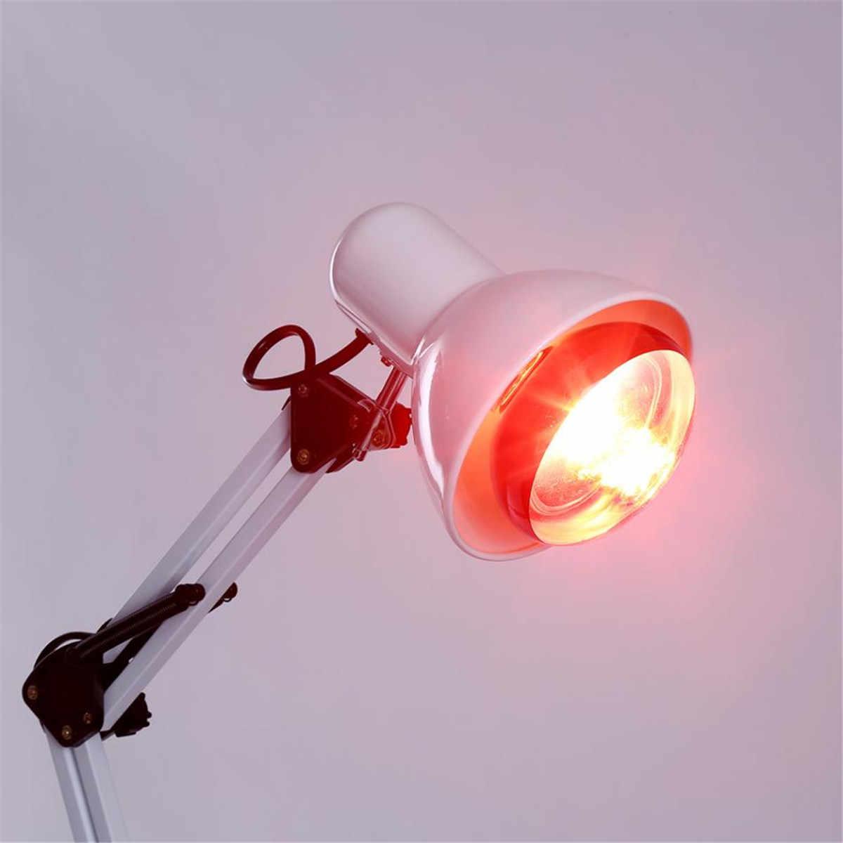 Инфракрасных красных тепло свет 110-240 V 100 W терапевтический дома лампы терапии для облегчения боли напольная подставка штепсельная вилка европейского стандарта 180 Угол E27 облегчение боли