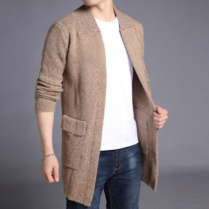 Mrmt 2018 flambant neuf Hommes de Vestes Chandail Manteau Moyen Longueur Pur Couleur Pardessus Pour Hommes Chandail Manteau vêtements chauds Vêtements