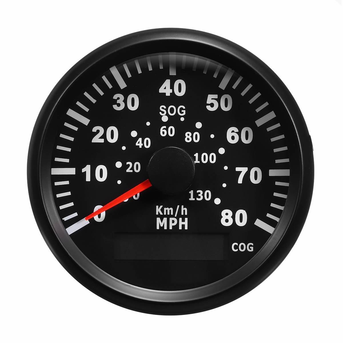 LCD 80MPH 130 km/h GPS compteur de vitesse odomètre jauge capteur de vitesse pour voiture camion moto bateau marin véhicules automobiles ATV remplacement