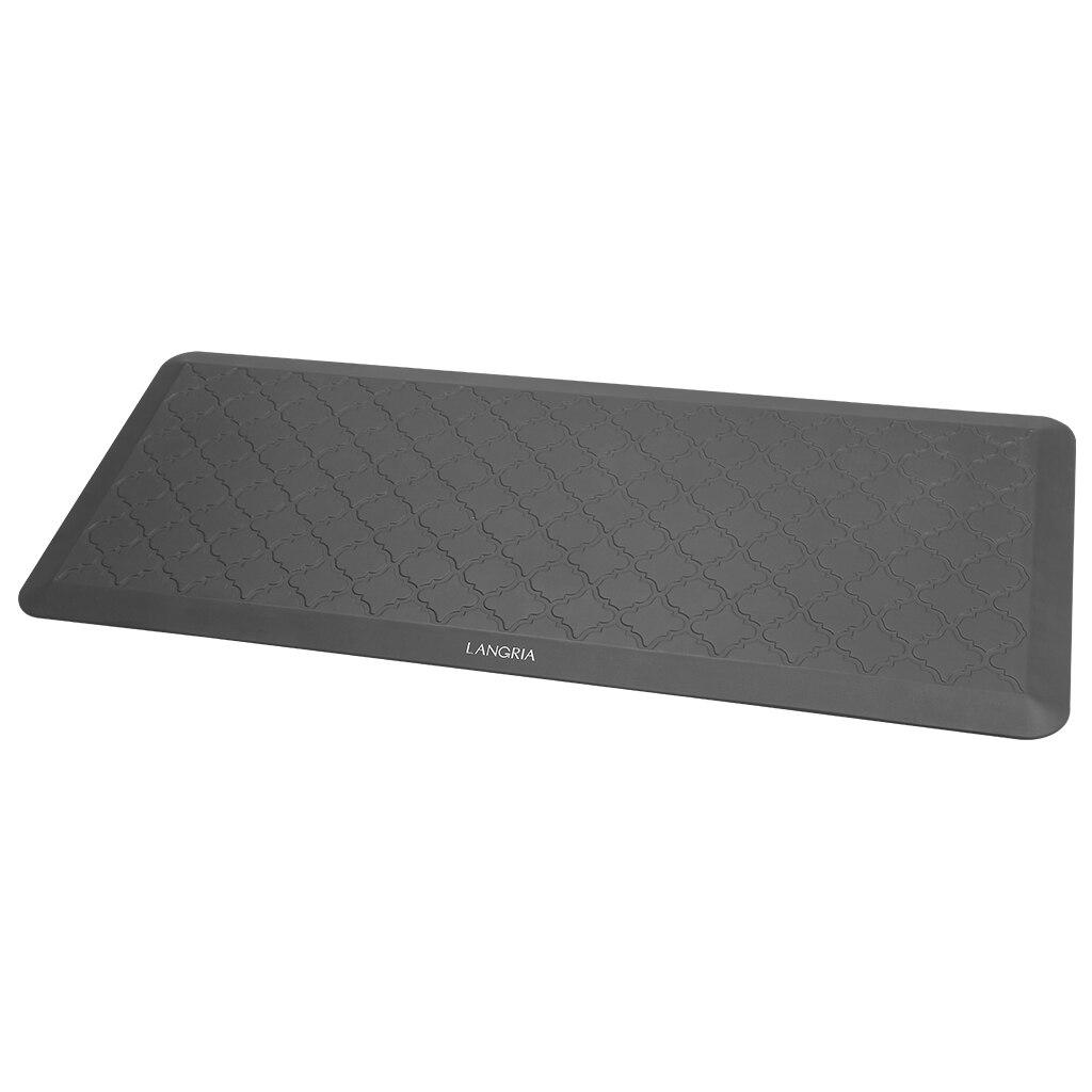 LANGRIA Anti Fatigue tapis de bureau debout confort ergonomique Design anti-dérapant imperméable Non toxique pour bureau cuisine salle de bain étude