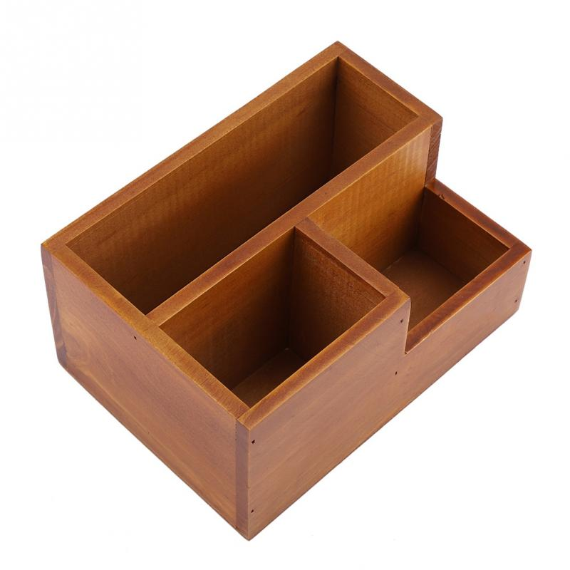 Multifunctional Wooden Succulent Storage Box Organizer for Potted Plant Makeup Display Stand