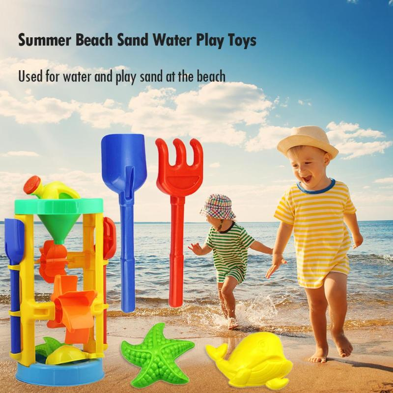 Summer BeachToys Sand Water Game Play Toys Children Seaside Bucket Hourglass Shovel Rake Outdoor Kids Beach Toys