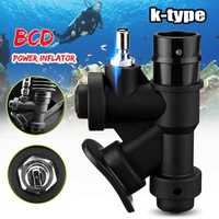 Diving Equipment Scuba BCD Power Inflator 45 Degree Angled Mouthpiece Inflatable Valve K type Swimming Pool Accessories
