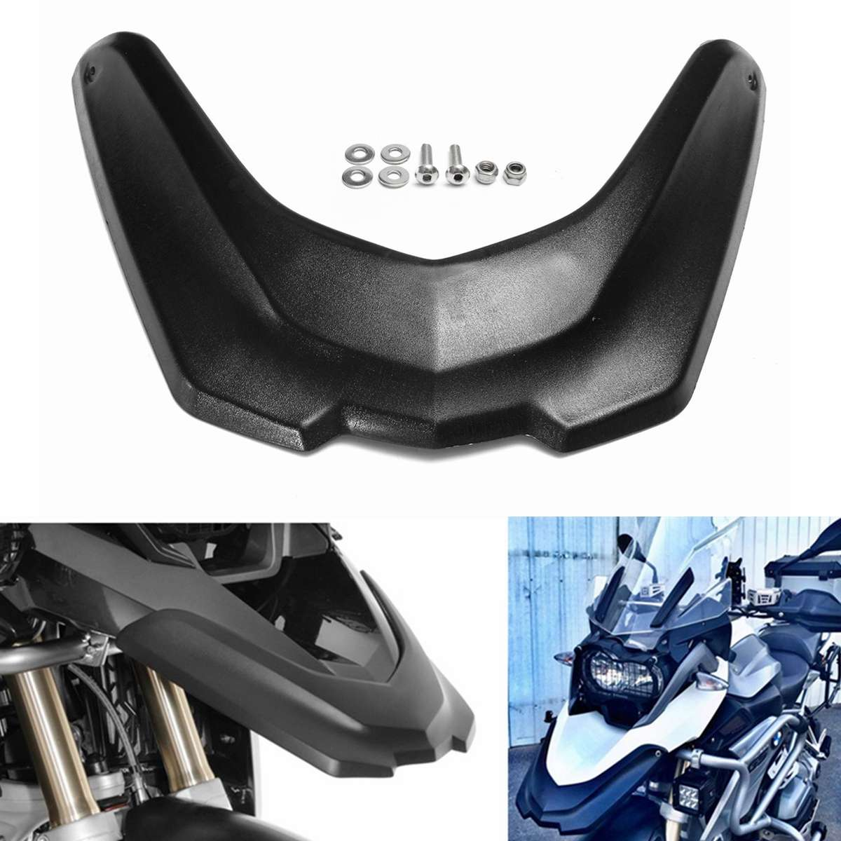 New Front Motorcycle For Fender Mudguard Mud Beak Extension Extender Wheel Cover Cowl For BMW R1200GS LC 2013-2016New Front Motorcycle For Fender Mudguard Mud Beak Extension Extender Wheel Cover Cowl For BMW R1200GS LC 2013-2016