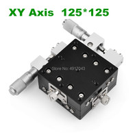 Осевая 125*125 мм обрезки станции ручной перемещения платформы линейная платформа раздвижной стол XY125 L LY125 R XY125 CM поперечная рейка