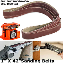 80-1000grit 14pcs Sanding Belts Aluminum Oxide Sandpaper Sander Pads 25*1050mm Tools