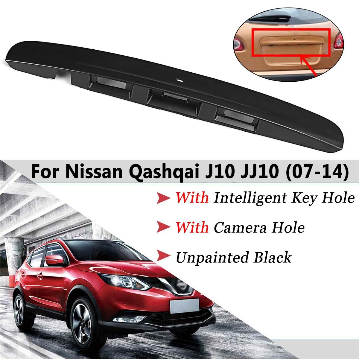 Bota traseiro Tailgate Porta Grab Handle Guarnição da Tampa J10 JJ10 Furo chave Para Nissan Qashqai 2007 2008 2009 2010 2011 2012 2013 2014