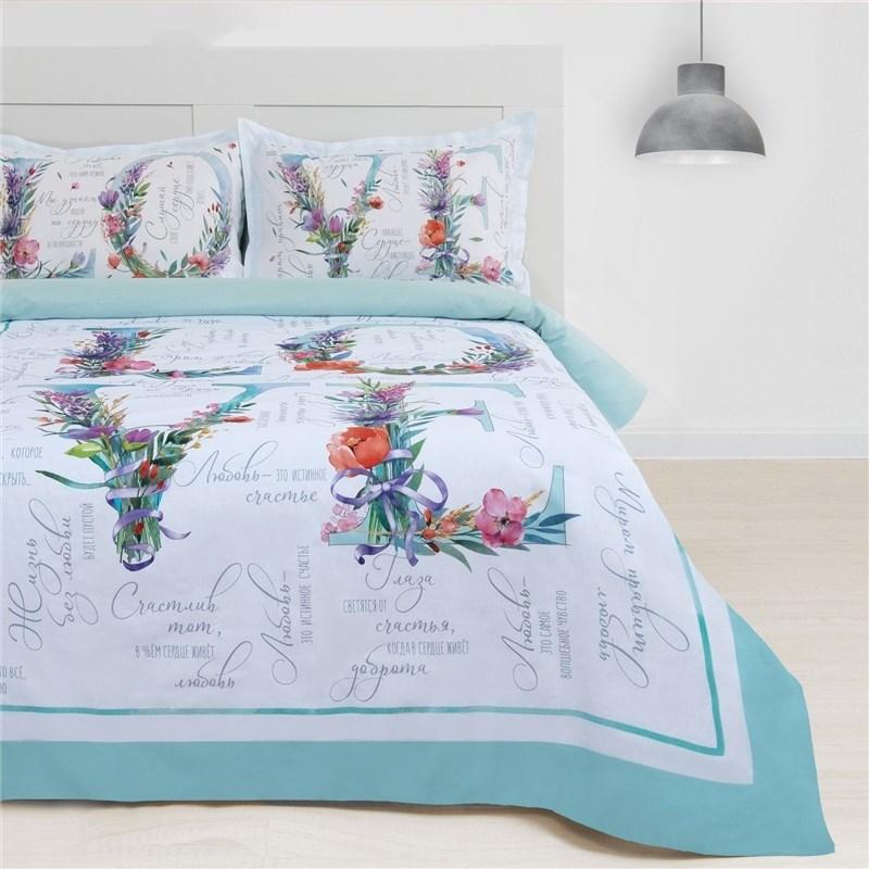 Bed Linen Ethel 1.5 Ch... Love 143х215 cm, 150х214 cm, 50х70 + 3-2 pcs, 100% cotton bed linen ethel 1 5 cn imperial 143х215 cm 150х214 cm 50х70 3 2 pcs ранфорс 111g m2