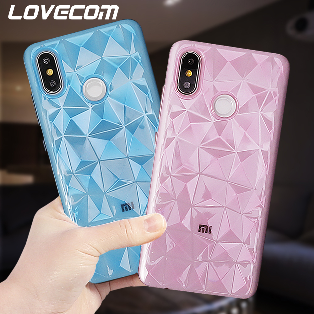 LOVECOM Phone Cases For <font><b>Xiaomi</b></font> 9 9SE Mi 8SE 8 Lite <font><b>Redmi</b></font> <font><b>4A</b></font> Note 7 5A <font><b>3D</b></font> Diamond Texture Soft TPU Full Body Back Cover Case Gift image