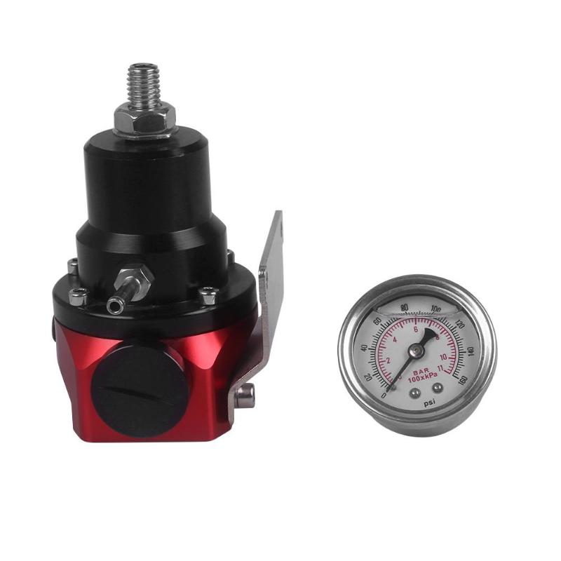 8AN 8//8//6 Pressure Regulator New Black High Pressure Fuel Regulator W// Boost
