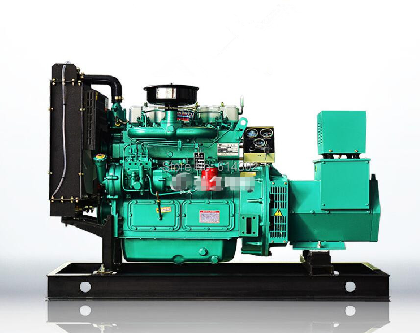 China weifang 3 phase diesel genset 24KW diesel generator with K4100D diesel engine and brushless alternator and base fuel tank