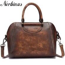 Norbinus женская сумка-мессенджер из натуральной кожи женские винтажные кожаные Наплечные сумки из воловьей кожи через плечо сумки с ручкой сверху
