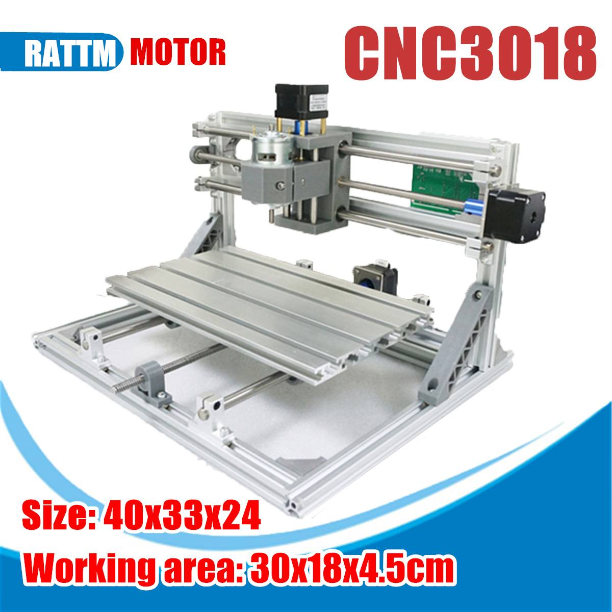 3018 3 Axis Mini DIY CNC Router Standard Spindle Motor Wood Engraving Machine Milling Engraver Mini CNC Router Laser Machine(China)