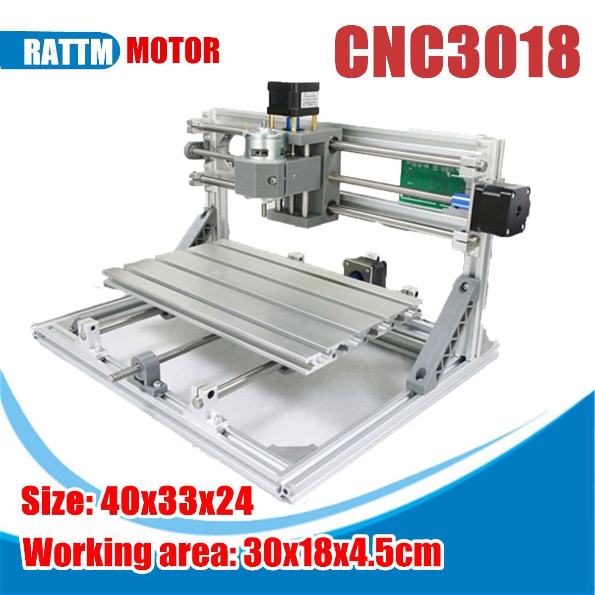 3018 3 axes Mini bricolage CNC routeur broche Standard moteur gravure sur bois fraiseuse graveur Mini CNC routeur Laser Machine