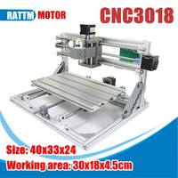 3018 3 Axis Mini DIY CNC Router Standard Spindle Motor Wood Engraving Machine Milling Engraver Mini CNC Router Laser Machine