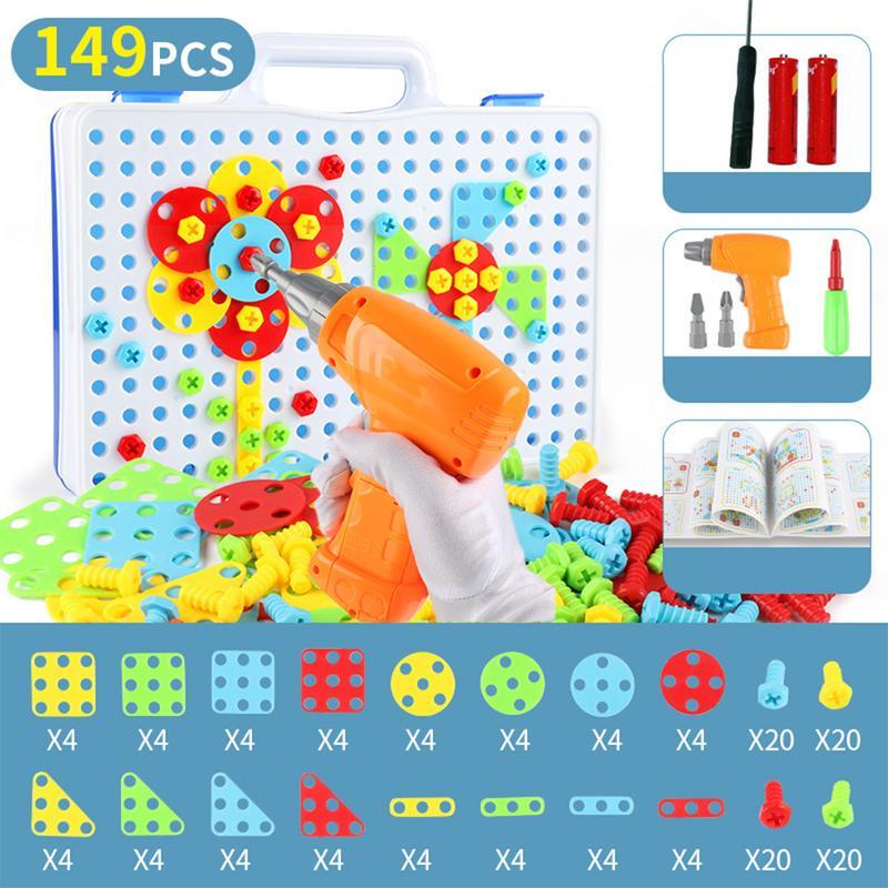 100% Wahr 149 Pcs Pretend Spielen Montage Bohrmaschine Schrauben Werkzeug Spielzeug Diy Innovative Konstruktion Spielzeug Kit Diy Spielen Spielzeug Set Mit Box