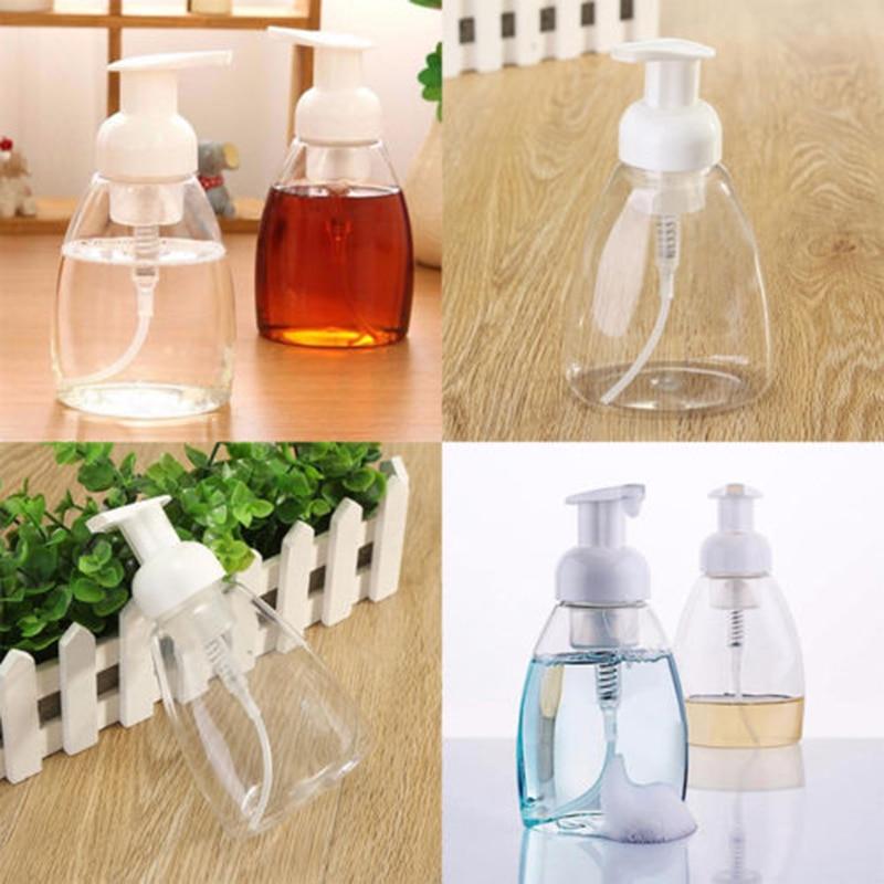 500ml Bottle Hand Pump Soap Foam Dispenser Plastic Storage Organiser Q