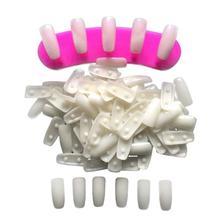 100 шт прозрачная; Нейл-арт практическая стойка, посвященная типам для ногтей, поправимая без клея практическая палитры цветовой диаграммы накладных ногтей DIY