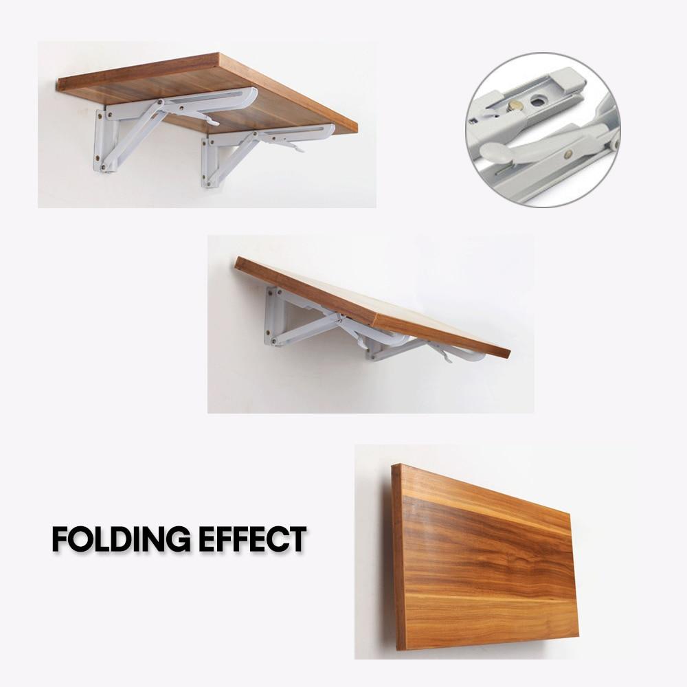 Folding Bracket Triangle Wall Shelf 90 Degree Telescopic ...