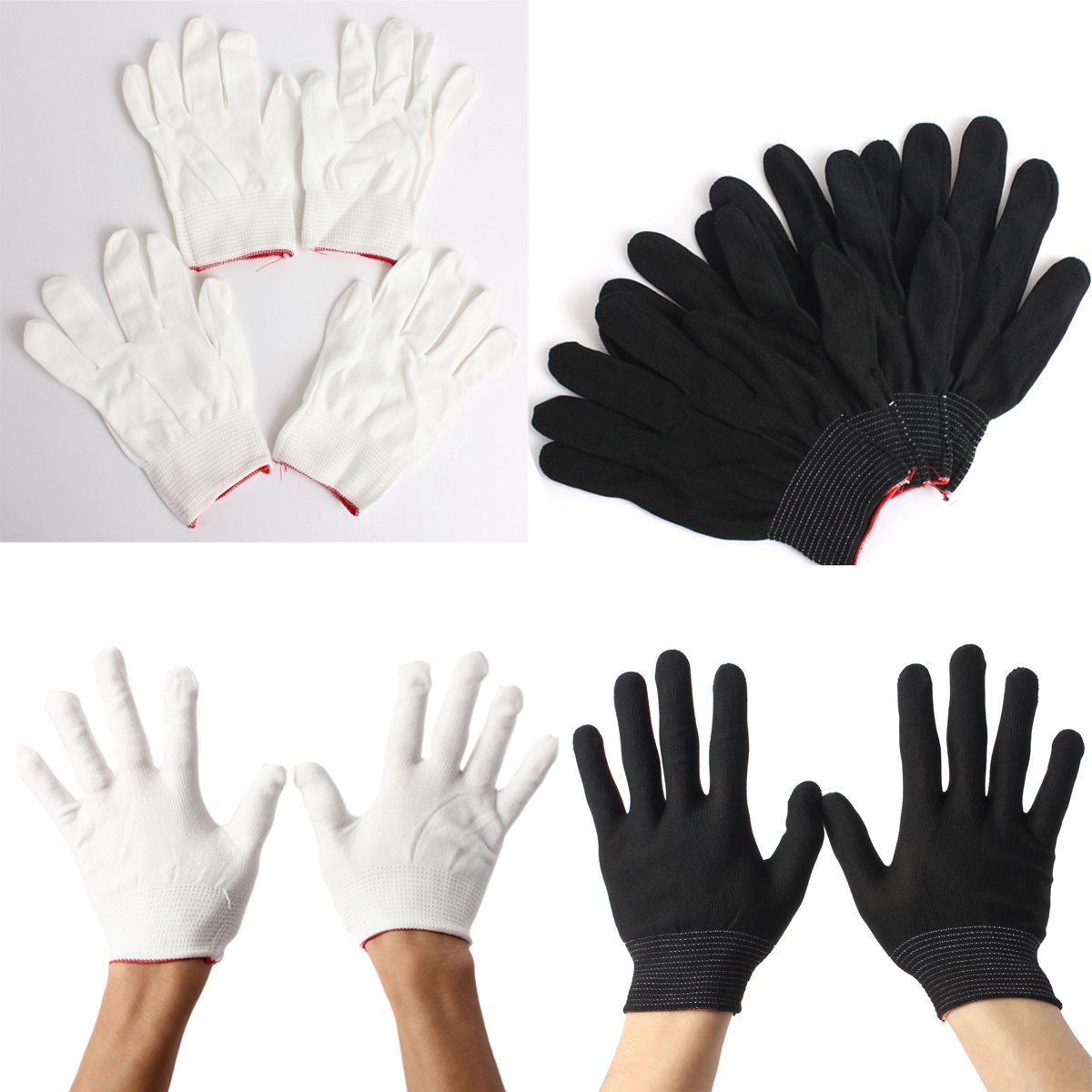 "10/"" Long White Nylon Lint-Free Inspection Gloves Coin Jewellery Small//Medium lot"