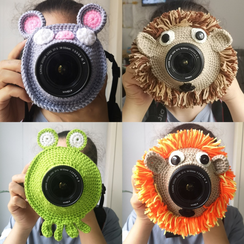 Studio Props Photography Baby Accessories Hand Knitted Camera Lens Decorative Ring Baby Photo Props Accessory Guide Toy Doll