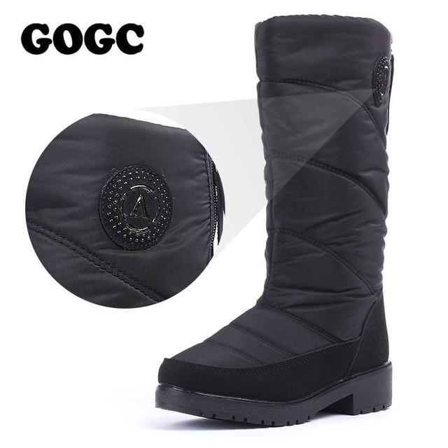 GOGC Warm Women's Winter Shoes 니 (High) 저 (부츠 Plus Size Fur Winter Boots Women 패션 눈 Boots New Brand women Shoes 9831