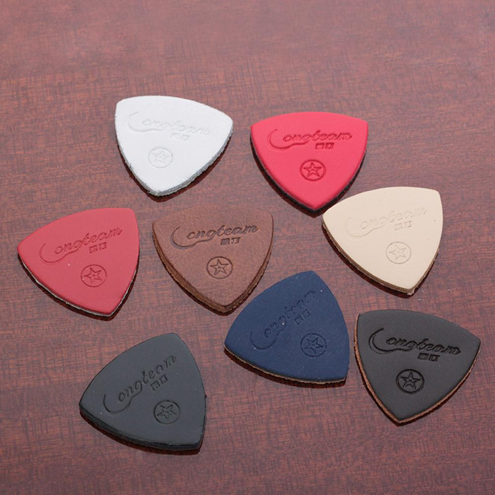 3pcs/set Guitar Ukulele Picks Finger Thumb Pick Leather Guitarra Picks For Ukulele Banjor Guitar Accessories Random Color