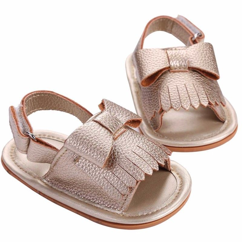 Pudcoco Baby Girl Sandals 0-18M Summer Fashion Newborn Baby Solid Sandals Toddler Princess Casual Girl Kid Shoes