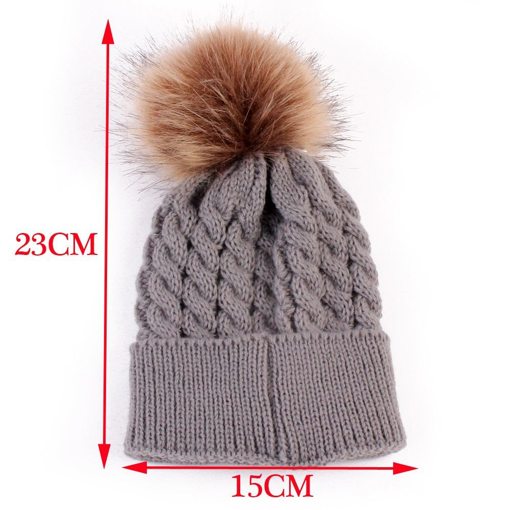 1Pc Fashion Candy Colors Mom Or Baby Knitting Keep Warm Hat Women Winter Hat Family Matching Outfits Mom Baby Hats30