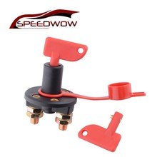 SPEEDWOW High Current Battery Switch Disconnect Isolator Cut OFF Switch With Key For Marine Auto ATV Vehicles Car Part