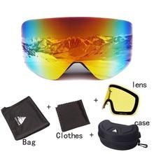 OTG Ski Goggles Interchangeable lenses Snow Glasses Men Wome