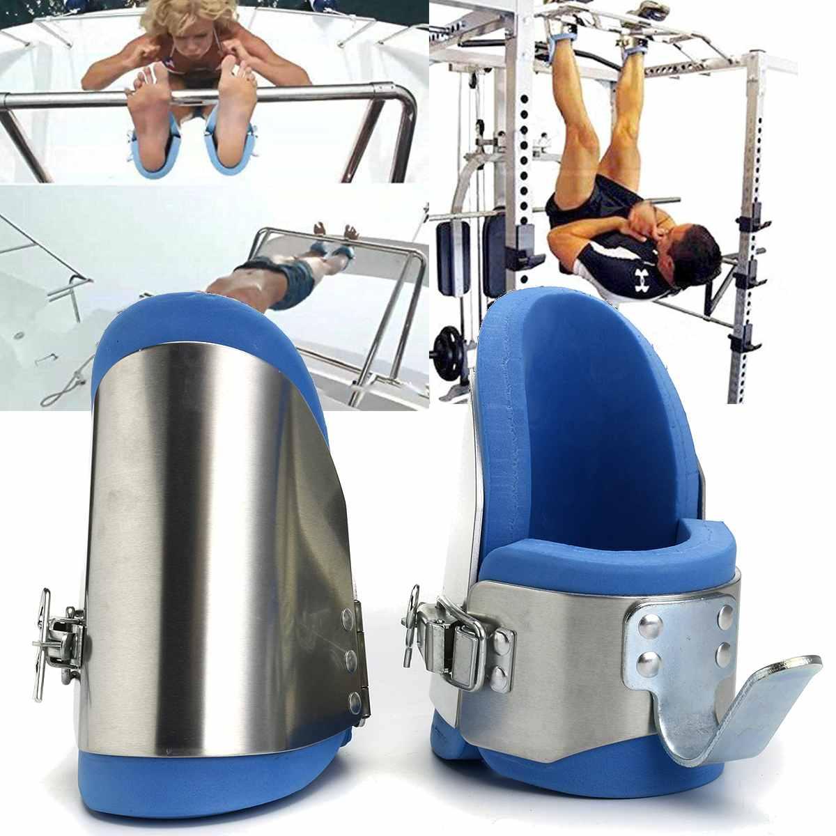 1 paire de bottes gravité Inversion Aluminium cheville gravité bottes thérapie Gym Fitness accrocher colonne vertébrale Posture dos Sport équipement d'entraînement