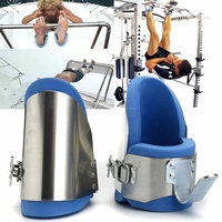 1Pair Gravity Boots Inversion Aluminium Ankle Gravity Boots Therapy Gym Fitness Hang Spine Posture Back Sport Training Equipment