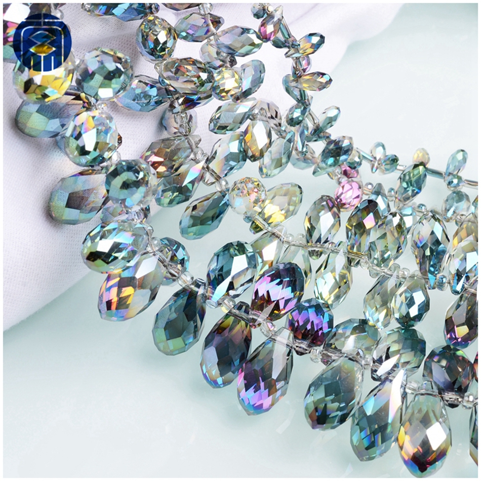 zhubaiwan JuleeCrystal Teardrop Colorful All Size Crystal