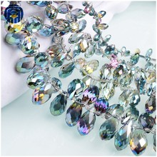 JuleeCrystal Teardrop Beads Colorful All Size Available Crystal Glass Beads For Jewelry Making(China)