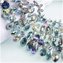 8e746d1a3350 JuleeCrystal lágrima colorido todo el tamaño disponible de cristal gota de  vidrio perlas para joyería haciendo · 10 colores disponibles