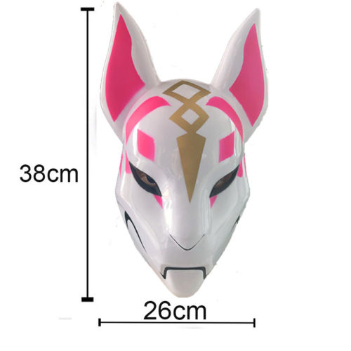 Unisex Drift Halloween Cosplay Costume Props Latex Full Face Mask Helmet Mask Cute Elf Mask 26*38CM