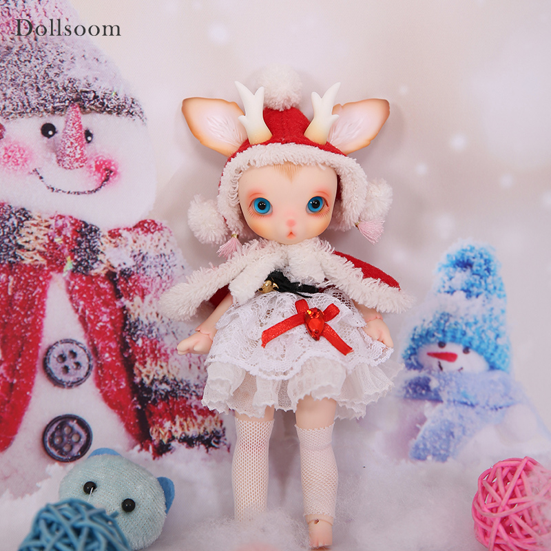 BJD Doll Rudy 1/8 Christmas Deer Include Fullset Option Lovely Pet Joint Doll Oueneifs