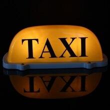 Большой размер 12 V автомобиля такси метр кабины Топпер крыши знак свет лампы магнитное основание желтый провод Длина: 68 см