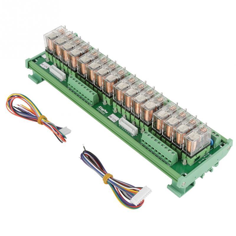 Module de relais chaud de 12V 16 canaux pour l'installation de carte d'amplificateur de PLC/Rail de DIN avec des câbles