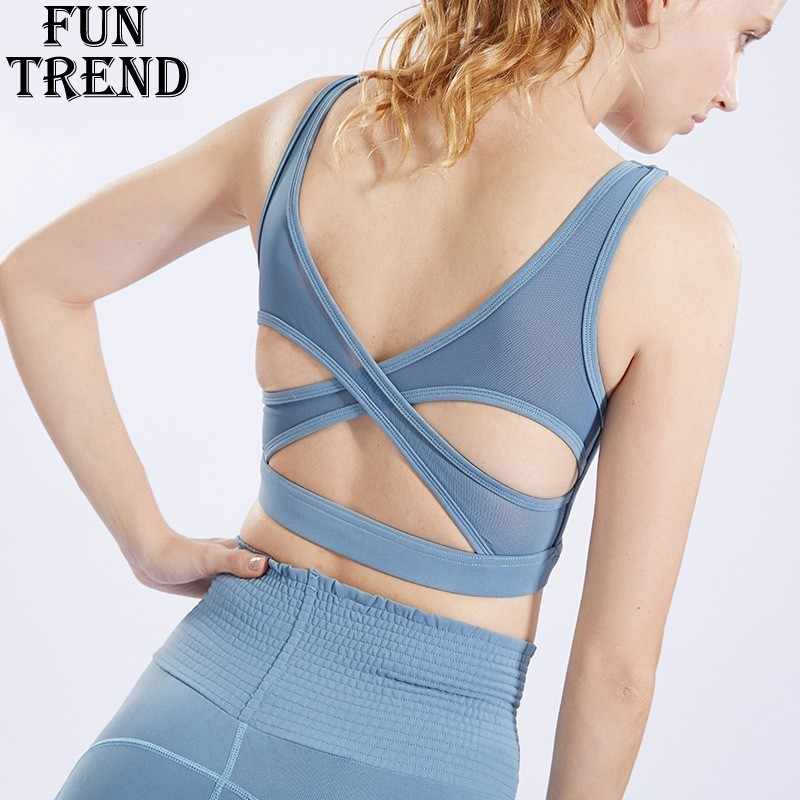 2a3a2f656 Push Up Sports Bra Yoga Sport Top High Impact Padded Yoga Bra Women Fitness  Sport Underwear