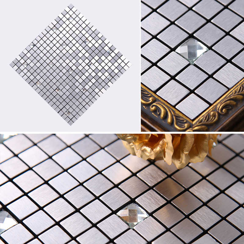 30x30cm Home Wall Stickers Self Adhesive Mosaic Backsplash Sticker Decal Kitchen Bathroom Wall Tiles Decoration