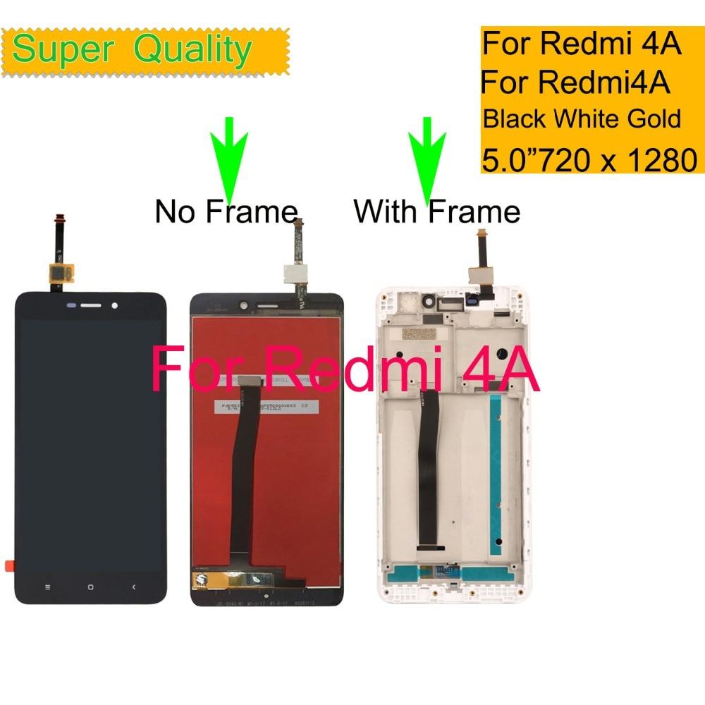 """10 шт./лот для Xiaomi REDMI 4A Redmi4A ЖК-дисплей сенсорный экран дигитайзер Pantalla монитор Redmi 4a ЖК в сборе с рамкой 5,0"""""""