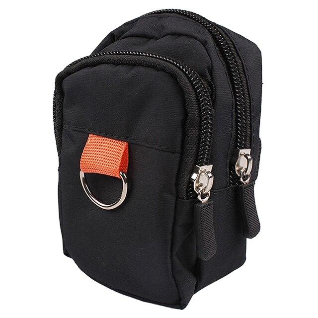 Cremallera doble bolsa de muñeca Brazo móvil teléfono móvil paquete moneda monedero bolsa