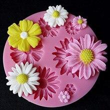 3d силиконовые формы в виде цветка помадка ремесло торт Конфеты Шоколад мастика ледяные Кондитерские инструмент форма для выпечки