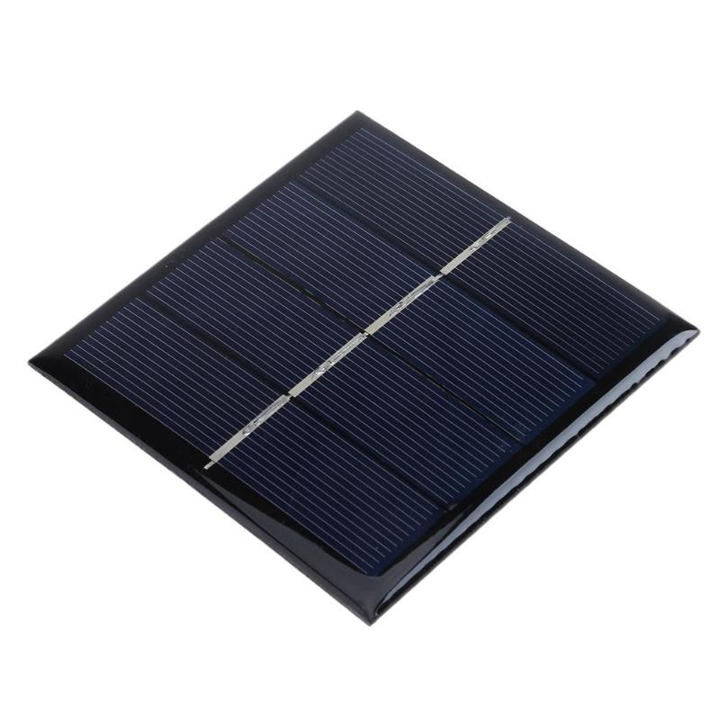 Portable 1W 2V Solar Power Battery Charger Panel for 2 1.2V AA Batteries