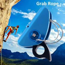 Outdoor Climbing Gear Aluminum Rope Grab Hiking Travel Kits For Rock Travel Strength Mountaineering Accessories